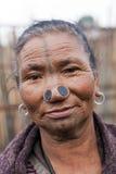 Tribo de Apatani Fotografia de Stock