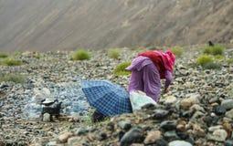 Tribo nos Himalayas Imagens de Stock Royalty Free