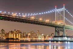 Triboro/RFK γέφυρα στην πόλη της Νέας Υόρκης Στοκ φωτογραφία με δικαίωμα ελεύθερης χρήσης