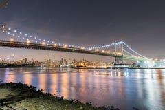 Triboro/RFK γέφυρα στην πόλη της Νέας Υόρκης Στοκ εικόνα με δικαίωμα ελεύθερης χρήσης