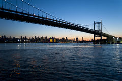 Triboro - RFK Bridge. NYC's Triboro Bridge Silhoutte at just past sunset. Known now as the Robert F. Kennedy Bridge this was fomerly the Triboro Stock Photos