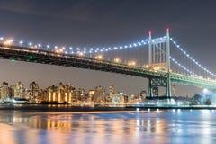 Triboro/RFK most w Miasto Nowy Jork Zdjęcie Stock