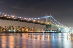 Triboro-/RFKbro i New York City arkivbild