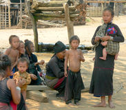 Tribu d'Enn. Myanmar photo libre de droits