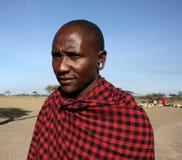 Tribu de bossage de masai d'homme de l'Afrique, Tanzanie Photographie stock