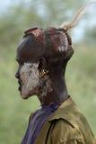 Tribu de Hamar dans la vallée d'Omo de l'Ethiopie Photographie stock