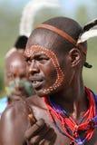 Tribu de Hamar dans la vallée d'Omo de l'Ethiopie Photo libre de droits