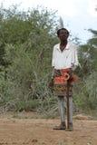 Tribu de Hamar en el valle de Omo de Etiopía Fotos de archivo