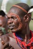 Tribu de Hamar en el valle de Omo de Etiopía Imagenes de archivo