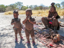 Tribu de Himba en Namibia Imagen de archivo