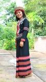 Tribu de Lahu con los trajes tribales fotos de archivo