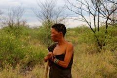 Tribu de los bosquimanos de San Fotos de archivo libres de regalías