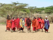 Tribu de masai Photos stock