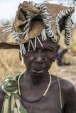 Tribu de Mursi en Omorate, Etiopía imagenes de archivo