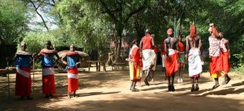 Tribu de Samburu, Kenia Imágenes de archivo libres de regalías