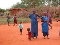 Tribu del Masai Foto de archivo libre de regalías