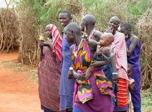 Tribu del Masai imagenes de archivo