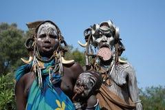 Tribu del mursi de Etiopía Imagen de archivo libre de regalías