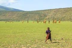 Tribu joven del Masai Foto de archivo