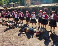 Tribu peruana nativa de la colina Imagen de archivo libre de regalías
