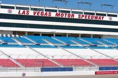 Tribuna della gara motociclistica su pista di Las Vegas Fotografia Stock Libera da Diritti