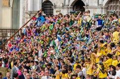 Tribuna dos espectadores em Palio de Siena Fotografia de Stock Royalty Free