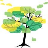 Tribuna o chiacchierata: albero Fotografie Stock Libere da Diritti