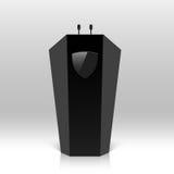 Tribuna, podio, tribuna con los micrófonos libre illustration