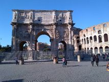 Tribuna romana del Th Fotografie Stock Libere da Diritti