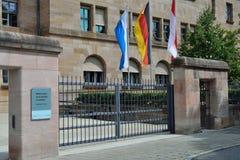 Tribunal building in Nuremberg. Nuremberg process tribunal second world war Royalty Free Stock Image