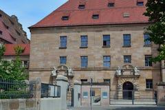 Tribunal building in Nuremberg. Nuremberg process tribunal second world war Stock Photos