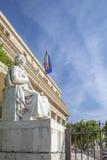 Tribunal de apelación con la estatua en la ciudad de Aix en Provence Fotos de archivo libres de regalías