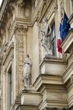 Tribunal de Commerce de Paris, France. Partial view of the wonderful building, Tribunal de Commerce de Paris, France Royalty Free Stock Images