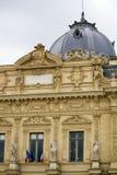 Tribunal de Commerce de Paris, France. Partial view of the wonderful building, Tribunal de Commerce de Paris, France Stock Photo