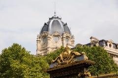 Tribunal de commerce. Elegant dome of the Tribunal de commerce building in Paris, France Stock Photo