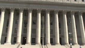 Tribunal de Estados Unidos en New York City almacen de metraje de vídeo