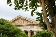 Tribunal de Grande Instance, Nîmes,法国 免版税库存照片