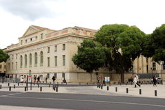 Tribunal de Grande Instance in Nîmes, France. The courthouse of Nîmes, or Le Palais de justice, is located just next to the amphitheatre, facing Esplanade Royalty Free Stock Photos