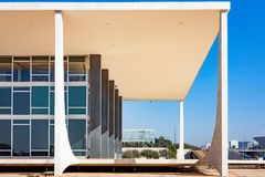 Tribunal de Justiça federal brasileiro, STF, em Brasília imagem de stock