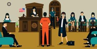 Tribunal de Justicia ilustración del vector