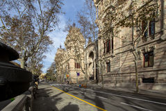 Tribunal de Justicia, Barcelona. Tribunal de justicia in Barcelona, Spain Royalty Free Stock Photo