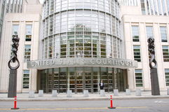Tribunal des Etats-Unis, New York City Photographie stock libre de droits
