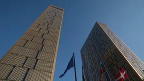 Tribunal Europeo de la justicia almacen de metraje de vídeo
