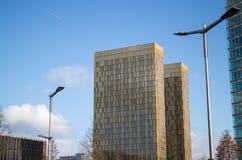Tribunal Europeo de las torres de la justicia Imagen de archivo