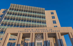Tribunal fédéral dans Gulfport Mississippi Photos libres de droits