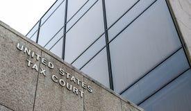Tribunal fiscal de Estados Unidos imagen de archivo libre de regalías