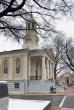 Tribunal histórico en la ciudad vieja Warrenton en invierno, Warrenton Virginia fotografía de archivo