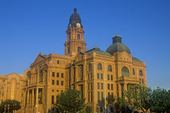 Tribunal histórico na luz da manhã, Ft Valor, TX fotos de stock