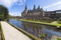 Tribunal Internacional de Justicia ICJ del palacio de la paz Imágenes de archivo libres de regalías