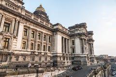 Tribunal ou palais de justice à Bruxelles, Belgique photographie stock